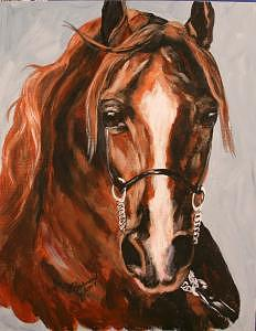Chestnut Beauty Painting by BJ Redmond