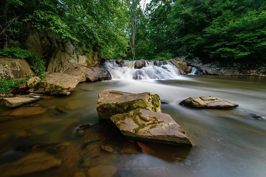 Chestnut Photograph - Chestnut Creek Falls  by Michael Scott