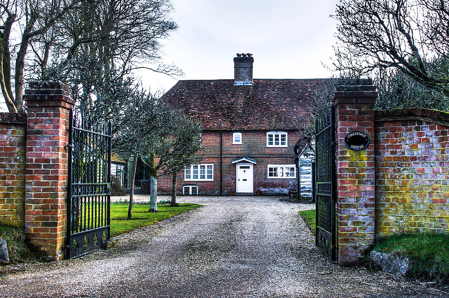 English Cottage Photograph - Chestnut house by Peggy Berger