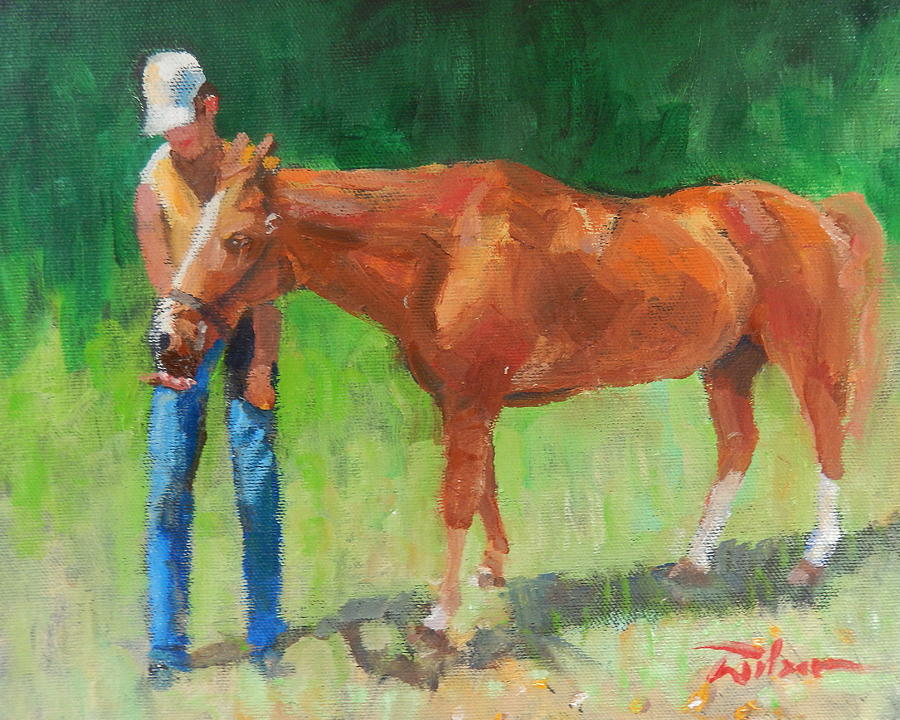 Acrylic Painting - Chestnut The Horse by Ron Wilson