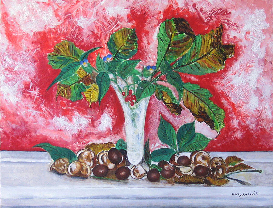 Still Life Painting - Chestnuts  by Vladimir Kezerashvili