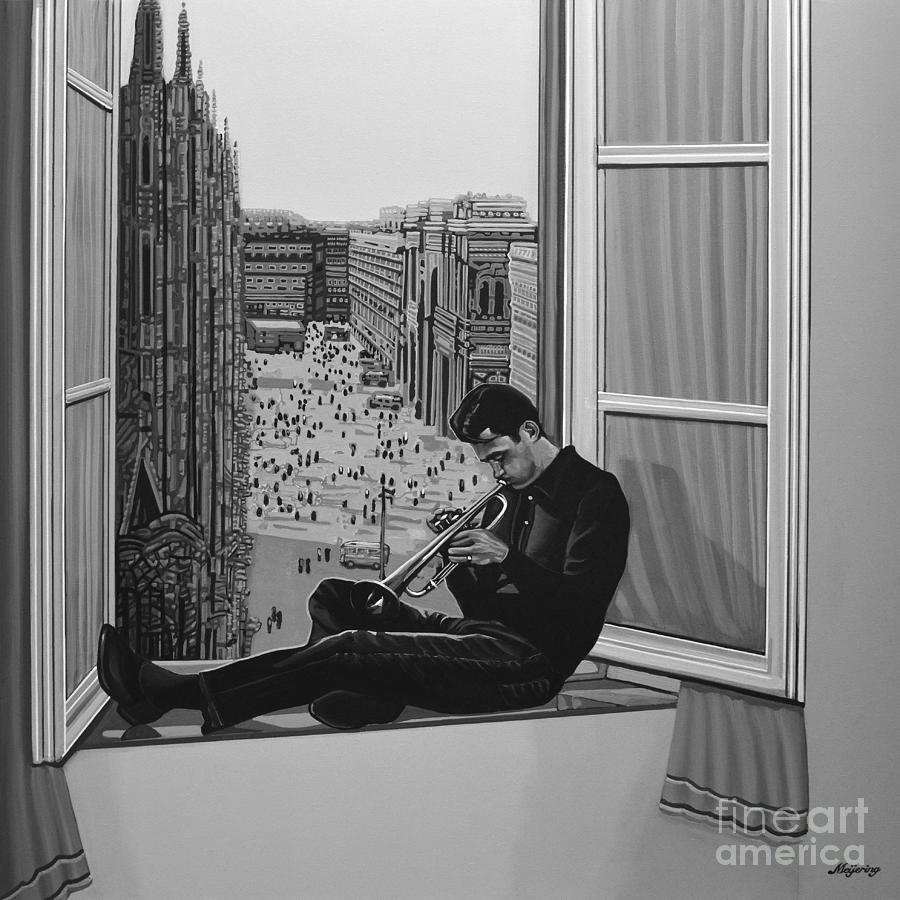 Chet Baker Painting By Paul Meijering