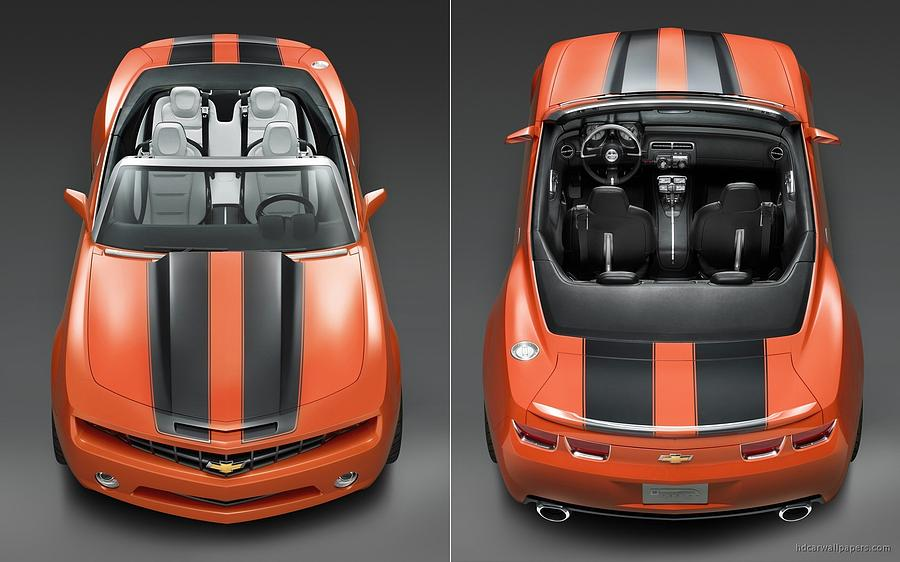 Chevrolet Camaro Convertible Concept 5  Digital Art by Mery Moon