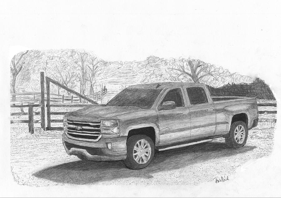 Chevrolet Truck Drawing By Kokas Art