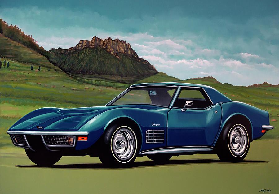 Chevrolet Corvette Stingray Painting - Chevrolet Corvette Stingray 1971 Painting by Paul Meijering