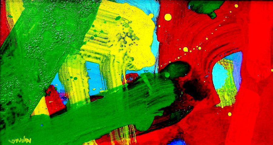Abstract Painting - Chevron by John  Nolan