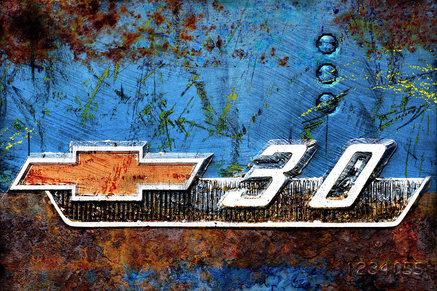 Car Photograph - Chevy 3.0 Photomontage by Carol Leigh