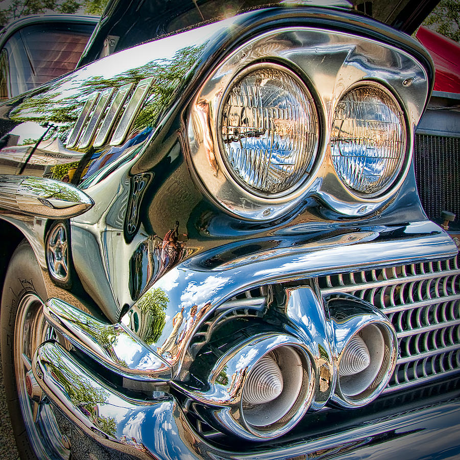 Car Photograph - Chevy Impala 1958 by Andreas Freund