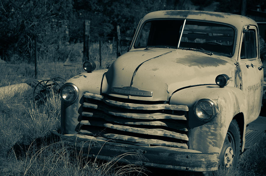 New Mexico Photograph - Chevy truck #2 by Lea Rhea Photography
