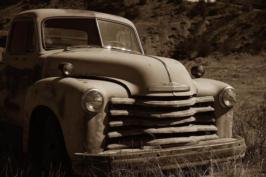 New Mexico Photograph - Chevy truck #3 by Lea Rhea Photography