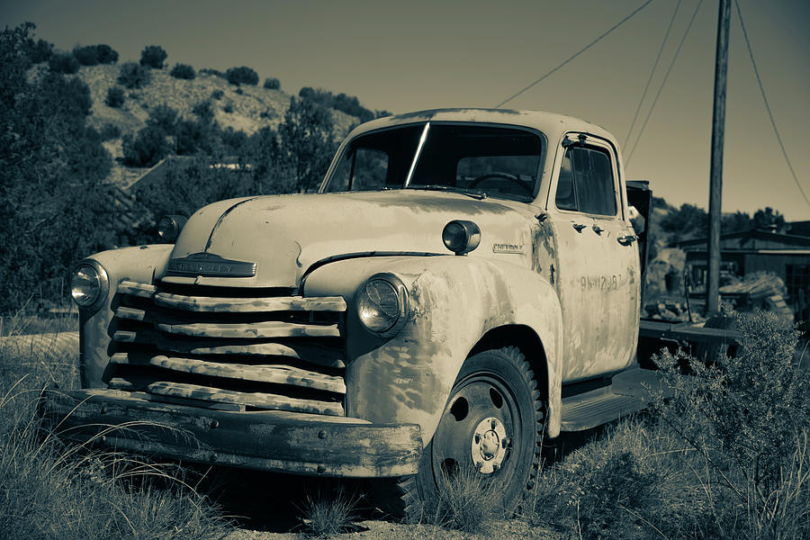 New Mexico Photograph - Chevy truck #4 by Lea Rhea Photography