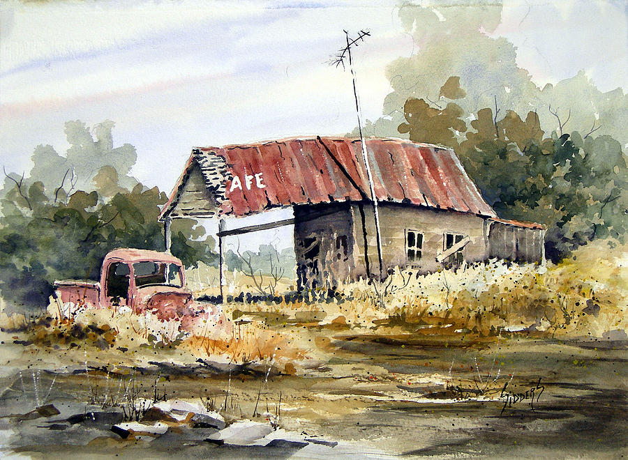 Rural Painting - Cheyenne Valley Station by Sam Sidders