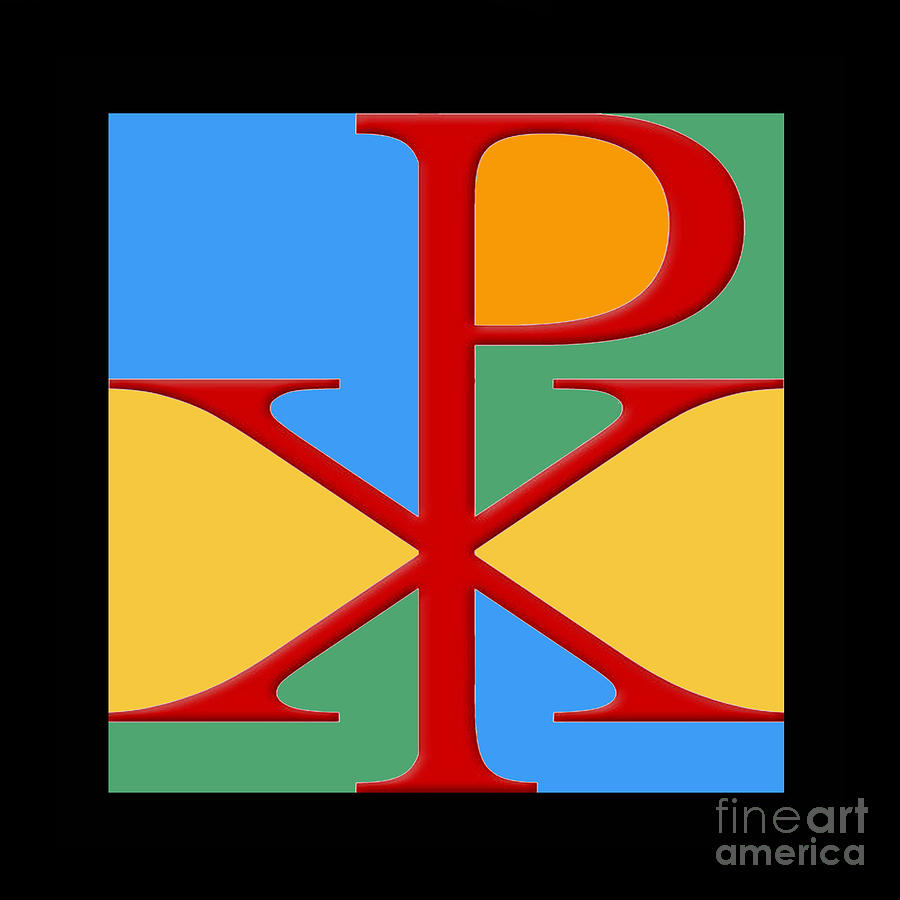 Chi Rho Photograph - Chi Rho Colour by Jost Houk