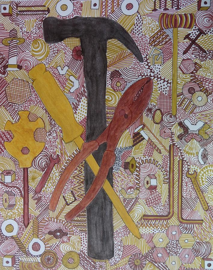Chi Rho Hammer by Susan Anderson
