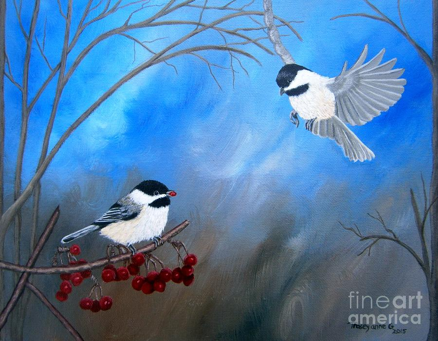 chickadees  by Tracey Goodwin