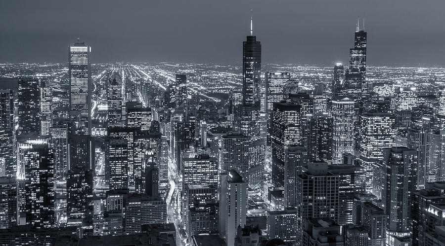 Chicago Aerial Panorama by Lev Kaytsner