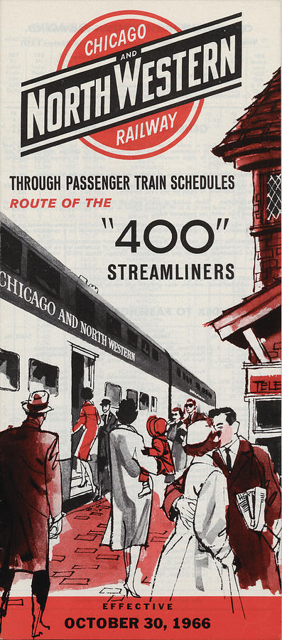 The 400 Photograph - Chicago and North Western 400 Train Schedule by Chicago and North Western Historical Society