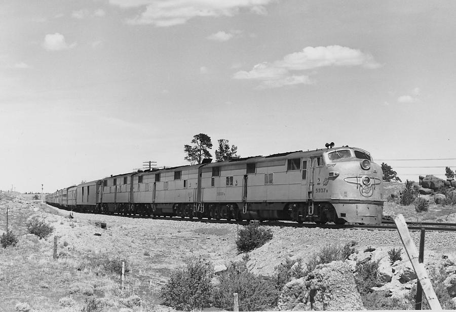 Diesel Engines Photograph - Diesel Locomotive Carrying Passengers by Chicago and North Western Historical Society