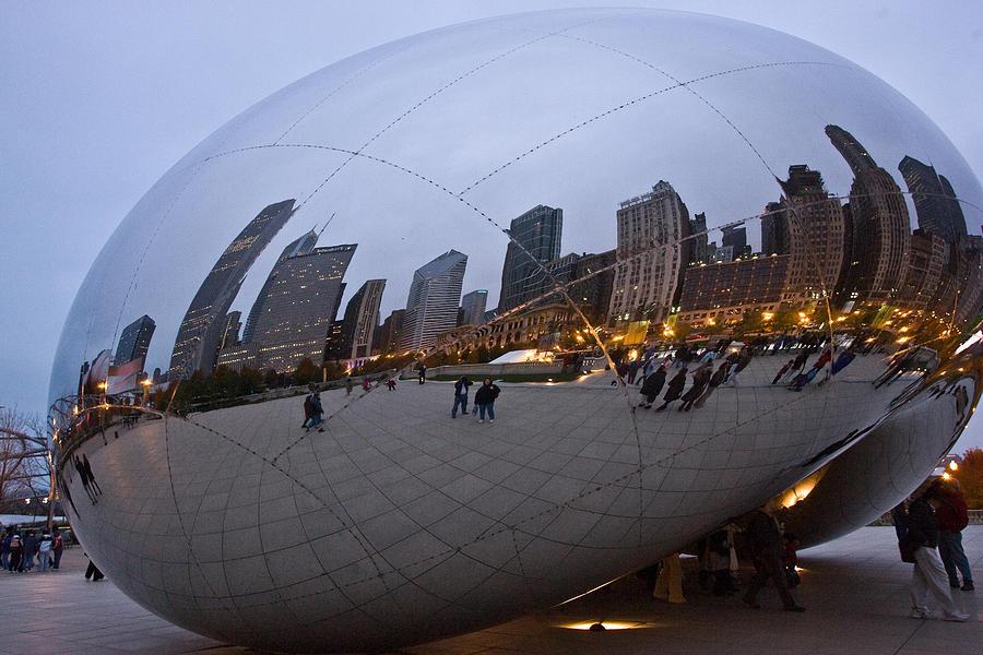 Bean Photograph - Chicago Bean by Mark Currier