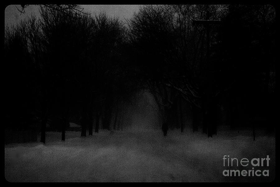 Chicago Blizzard - Monochrome Photograph