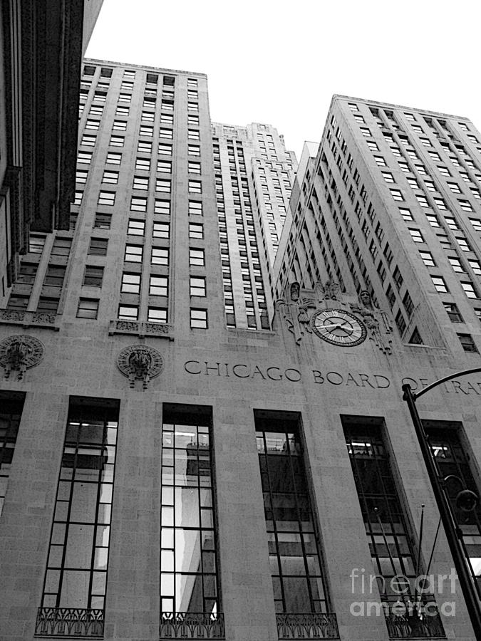 Black And White Photograph - Chicago Board of Trade by David Bearden