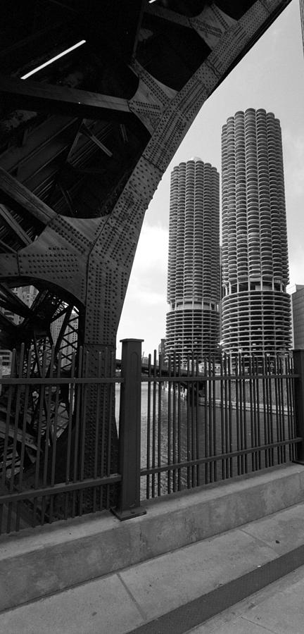 Chicago Photograph - Chicago Bridge And Buildings by Dmitriy Margolin