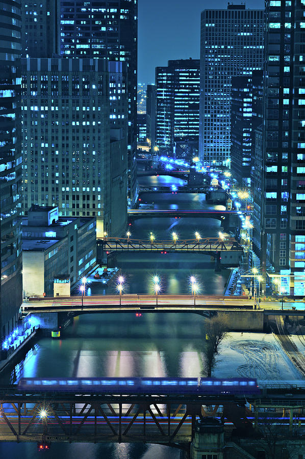 Chicago Photograph - Chicago Bridges by Steve Gadomski