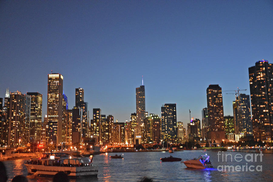 Lights Photograph - Chicago Bright by Andrea Simon