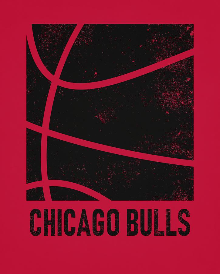 Bulls Mixed Media - Chicago Bulls City Poster Art 2 by Joe Hamilton