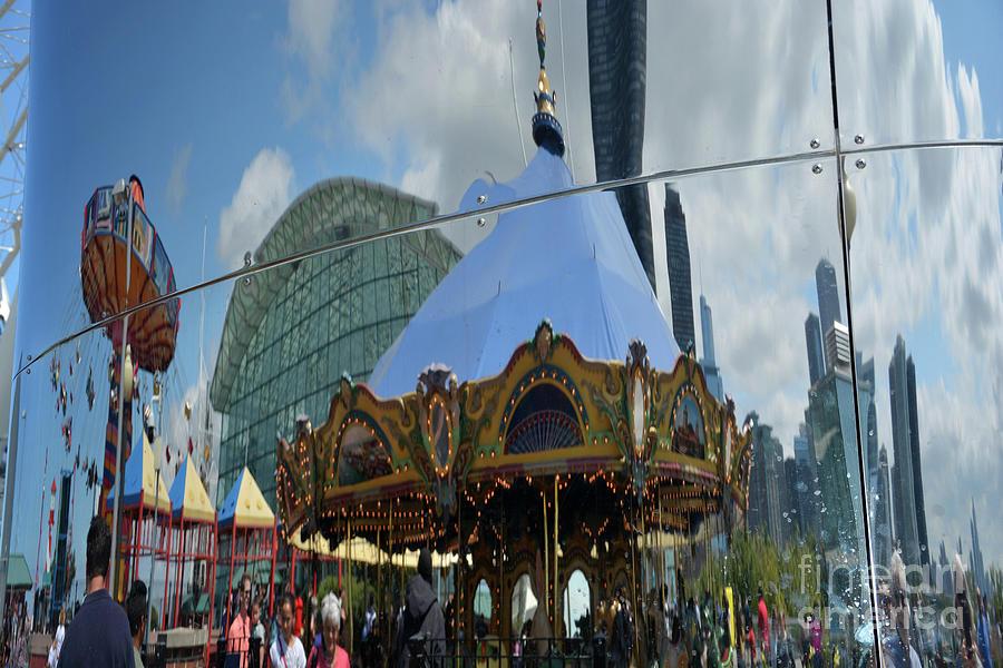 Carousel Photograph - Chicago Carousel by Andrea Simon