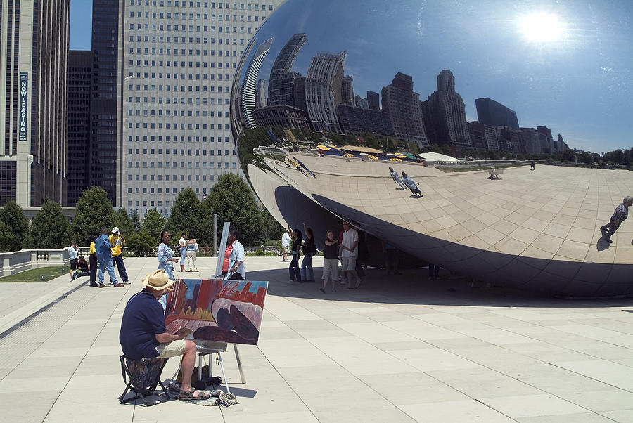 Cloud Gate Photograph - Chicago by Charles  Ridgway