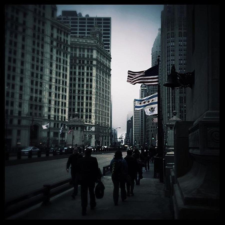 Illinois Photograph - Chicago City Fog by Frank J Casella