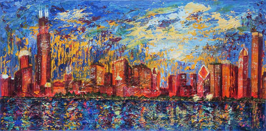Chicago City Scape by Tracie L Hawkins
