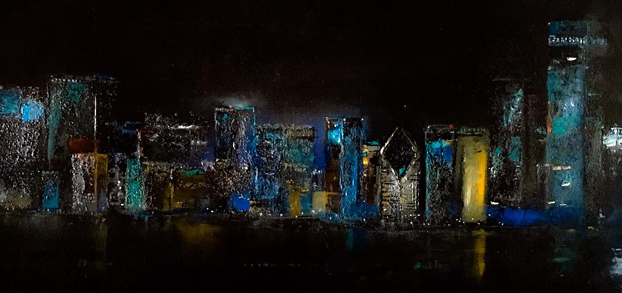Chicago City Scene by Michele Carter