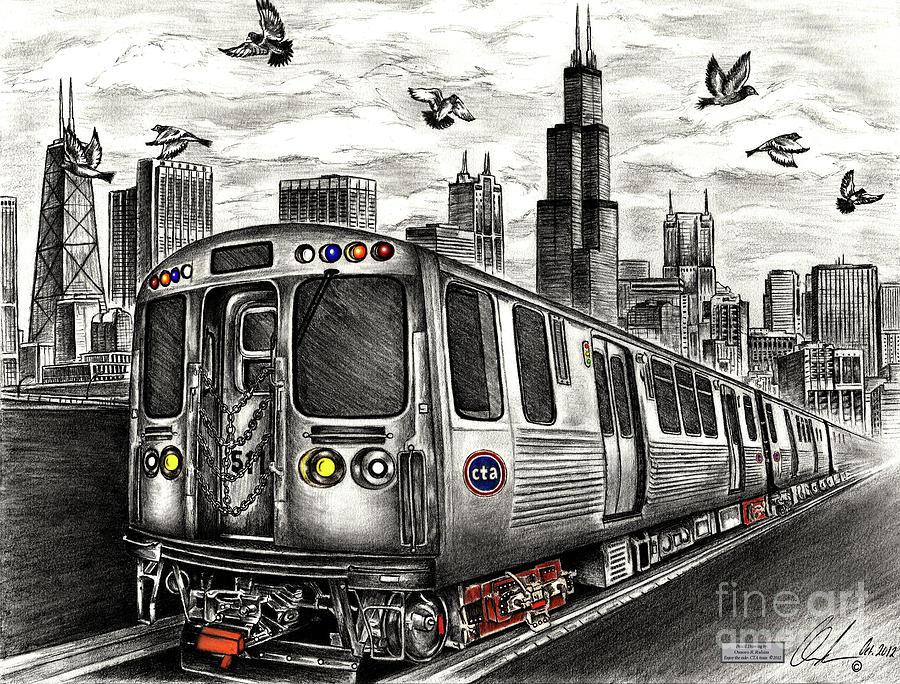 Chicago CTA Train by Omoro Rahim