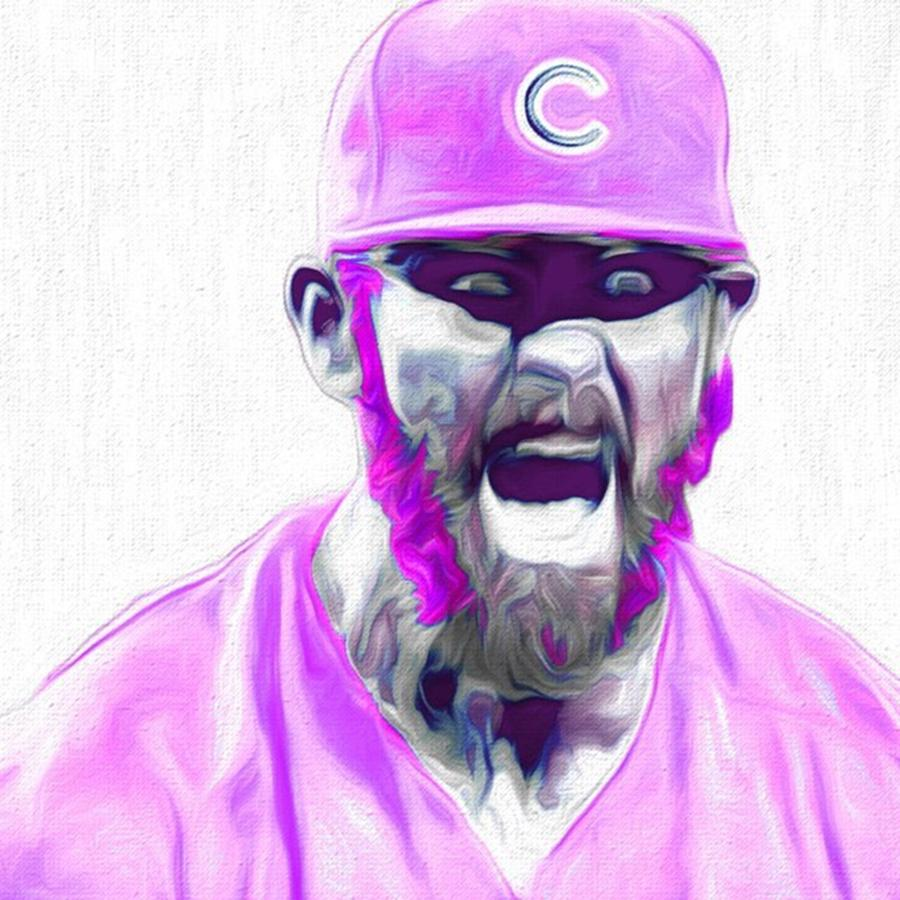 Mets Photograph - Chicago Cubs Ace Jake Arietta. No No #2 by David Haskett II