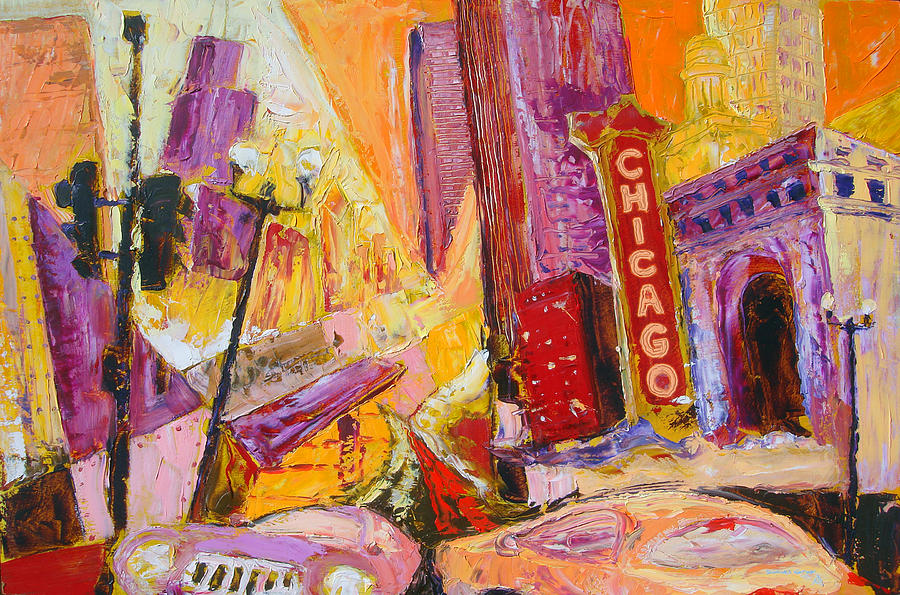 Chicago Painting - Chicago by Daniel Gray