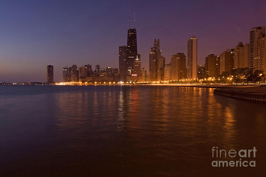 Chicago Skyline Photograph - Chicago Dawn by Sven Brogren