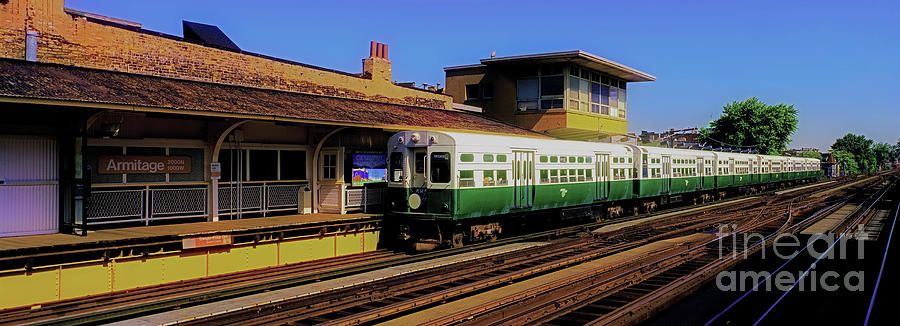 Chicago Photograph - Chicago El Vintage  Cars At Armitage  by Tom Jelen