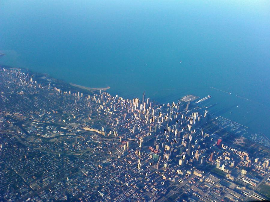 Chicago Photograph - Chicago From Way Up by Jacob Stempky