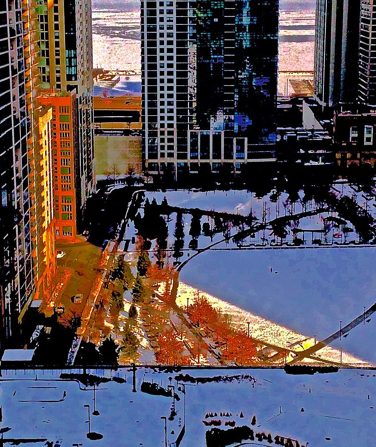Chicago Frozen Photograph