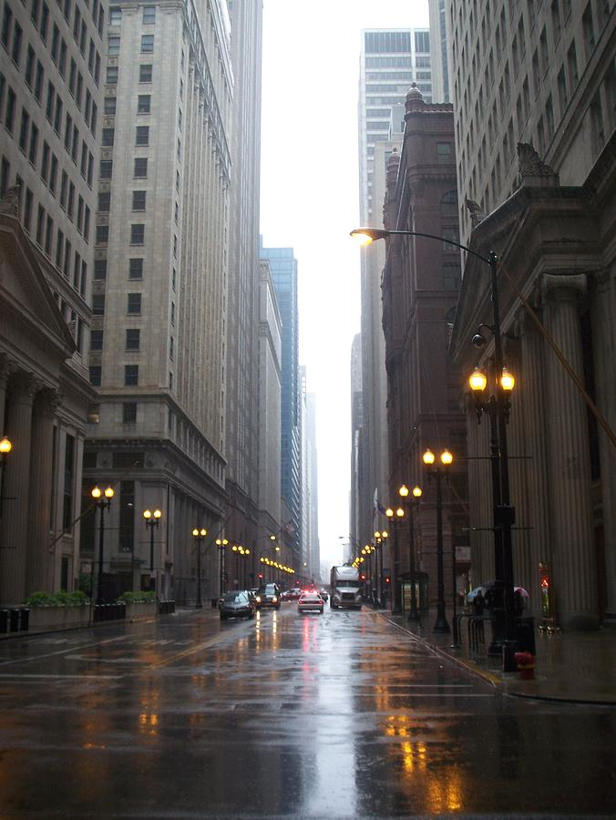 Chicago Photograph - Chicago In The Rain 2 by Anita Burgermeister