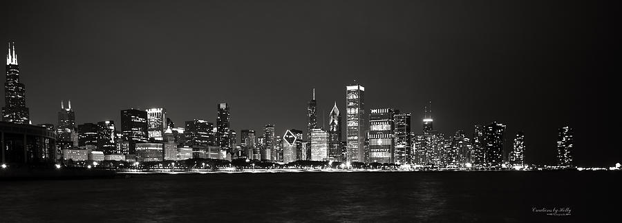 Chicago Lake View B And W Photograph by Holly Carpenter