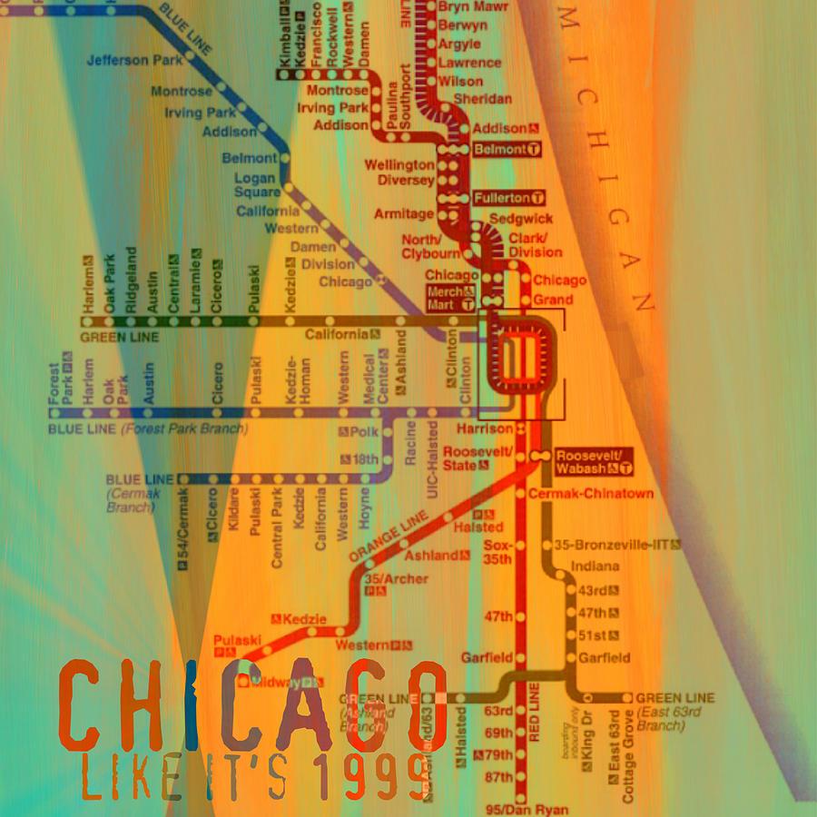 Brandi Fitzgerald Digital Art - Chicago Like Its 1999 by Brandi Fitzgerald