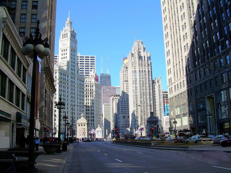 Chicago Photograph - Chicago Miracle Mile by Anita Burgermeister