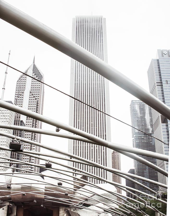 Chicago Photograph - Chicago Monotone II by Sonja Quintero