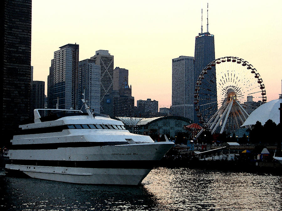 Photo Photograph - Chicago Navy Pier by Glory Fraulein Wolfe
