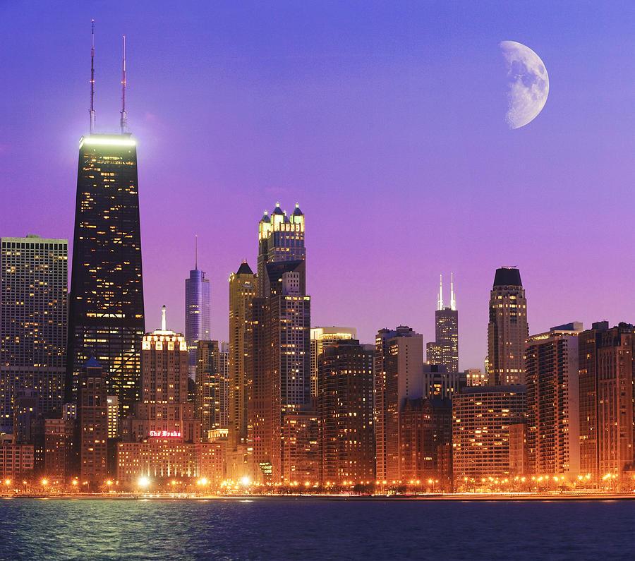 Chicago Photograph - Chicago Oak Street Beach by Donald Schwartz