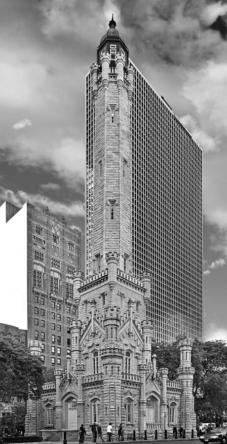 Old Photograph - Chicago - Old Water Tower by Christine Till