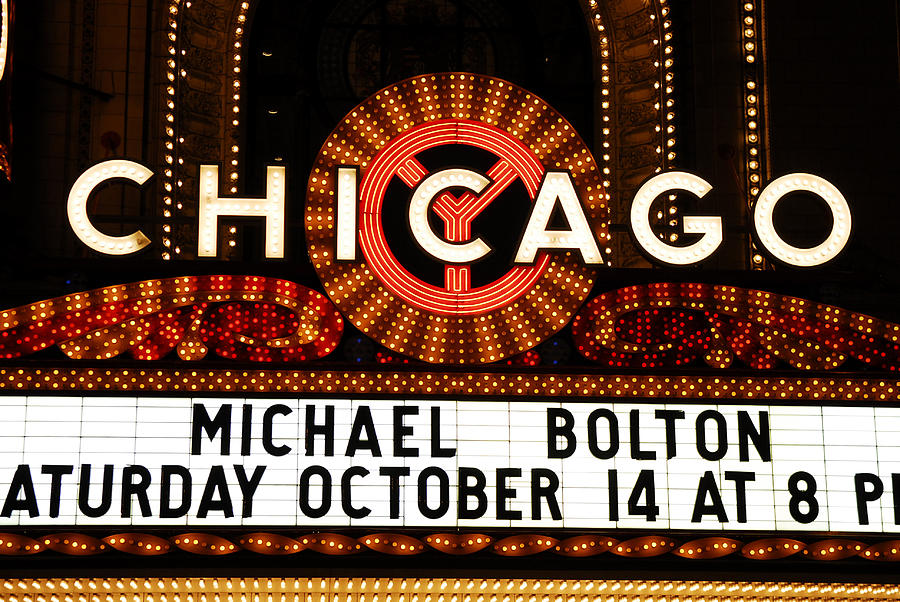 Chicago Photograph - Chicago Sign - Chicago Theater by Dmitriy Margolin